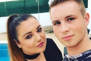 Shane Ridge with his girlfriend