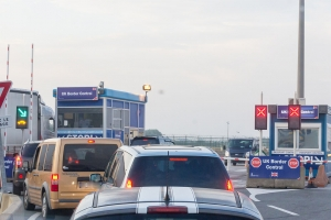 UK border control in the ferry area of the Port of Dunkerque