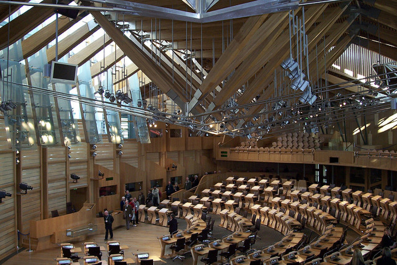Scottish Parliament Chamber, Scotland, UK