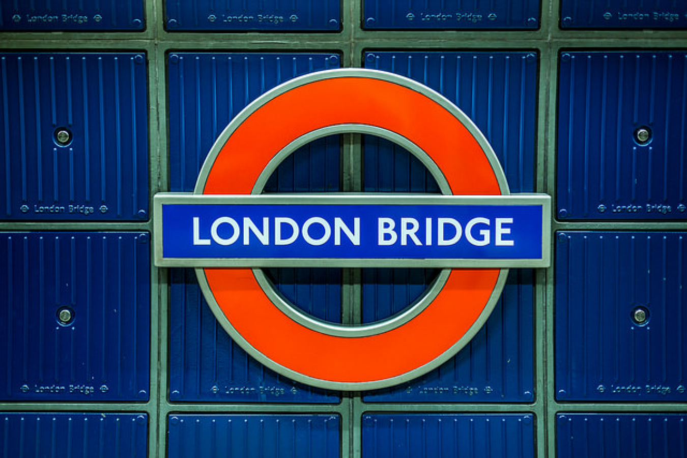 London Bridge Sign, London, UK