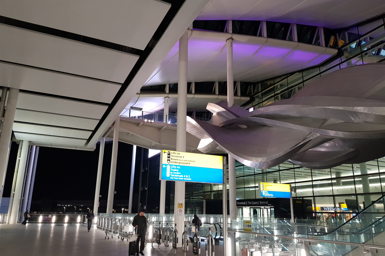 Heathrow Airport Arrivals unusually quiet 15 March 2020