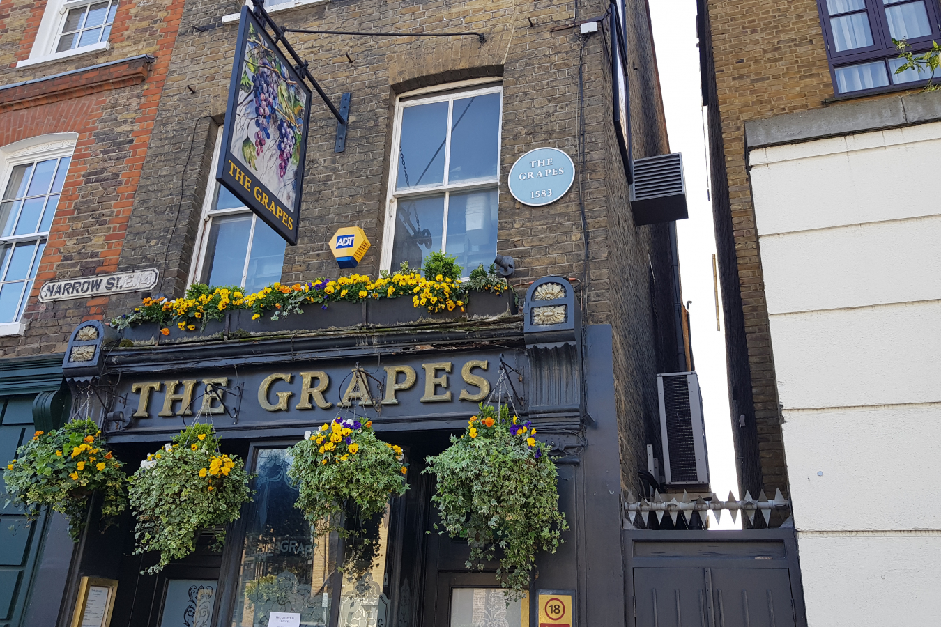 The Grapes, Limehouse, London currently closed due to coronavirus