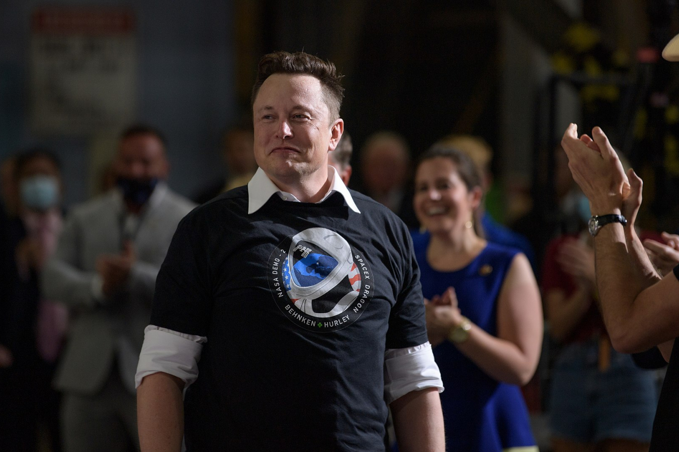 Elon Musk, SpaceX Chief Engineer, and the SpaceX team 30 May 2020