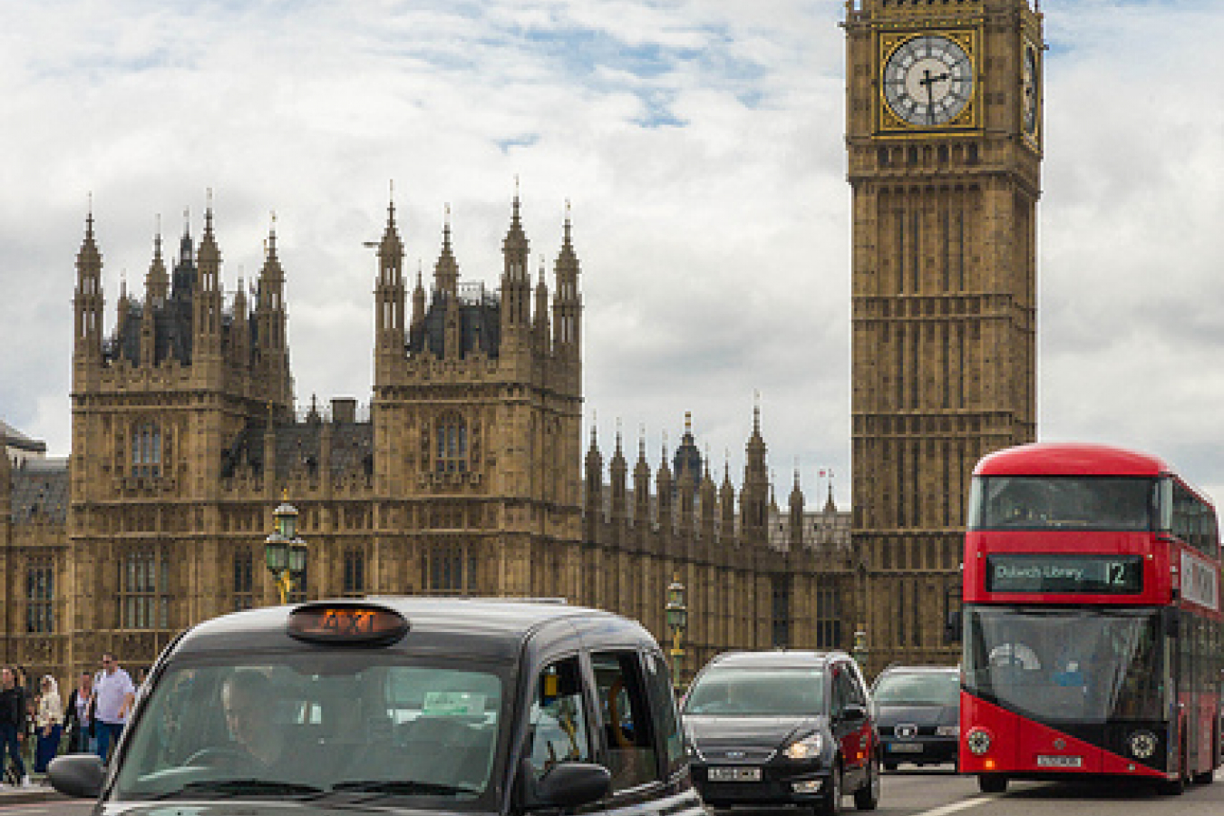 Big Ben, Bus et taxi - London - England