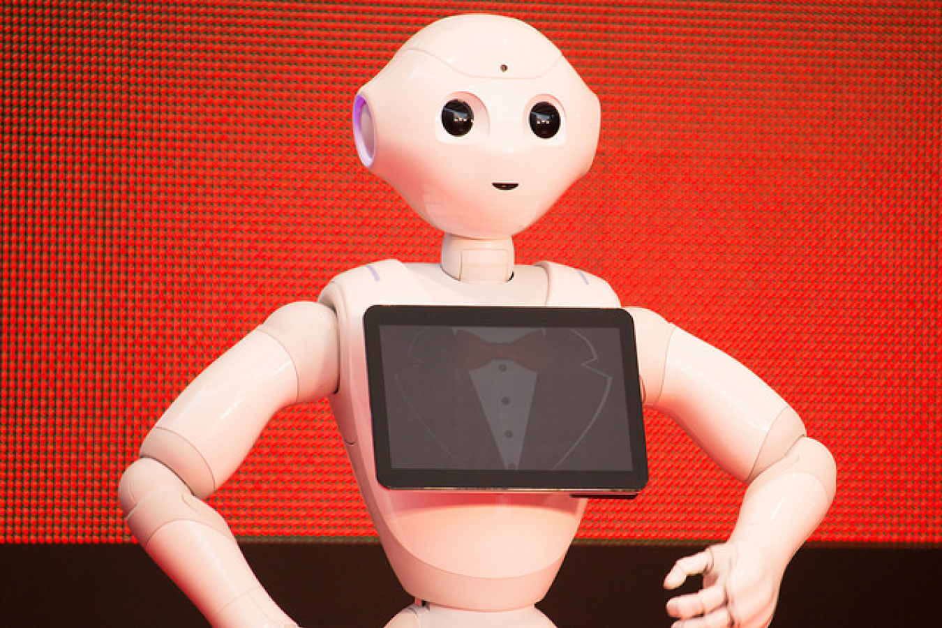 Japanese Softbank one of the largest UK investors. Their humanoid robot Pepper at Opening Ceremony of the 28th Tokyo International Film Festival