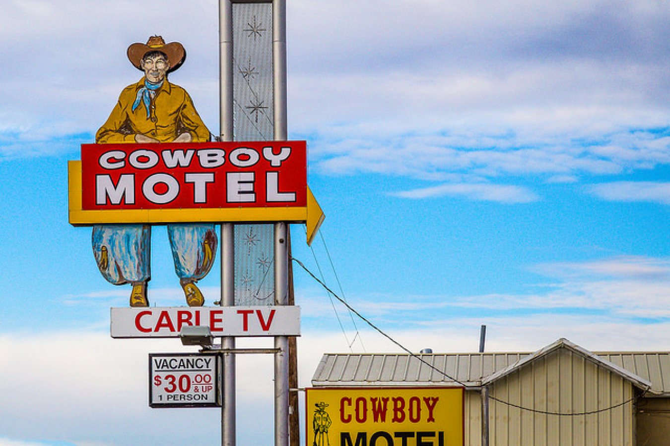 Cowboy Motel, U.S. Route 60 Amarillo, TX - A type of business started by E2 investors