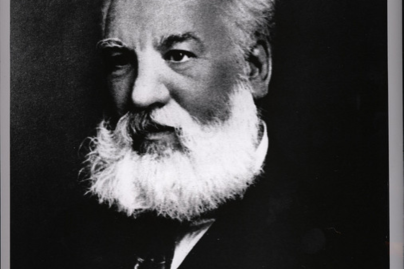 Portrait of Alexander Graham Bell (1847-1922) born in Scotland, Inventor of first practical telephone