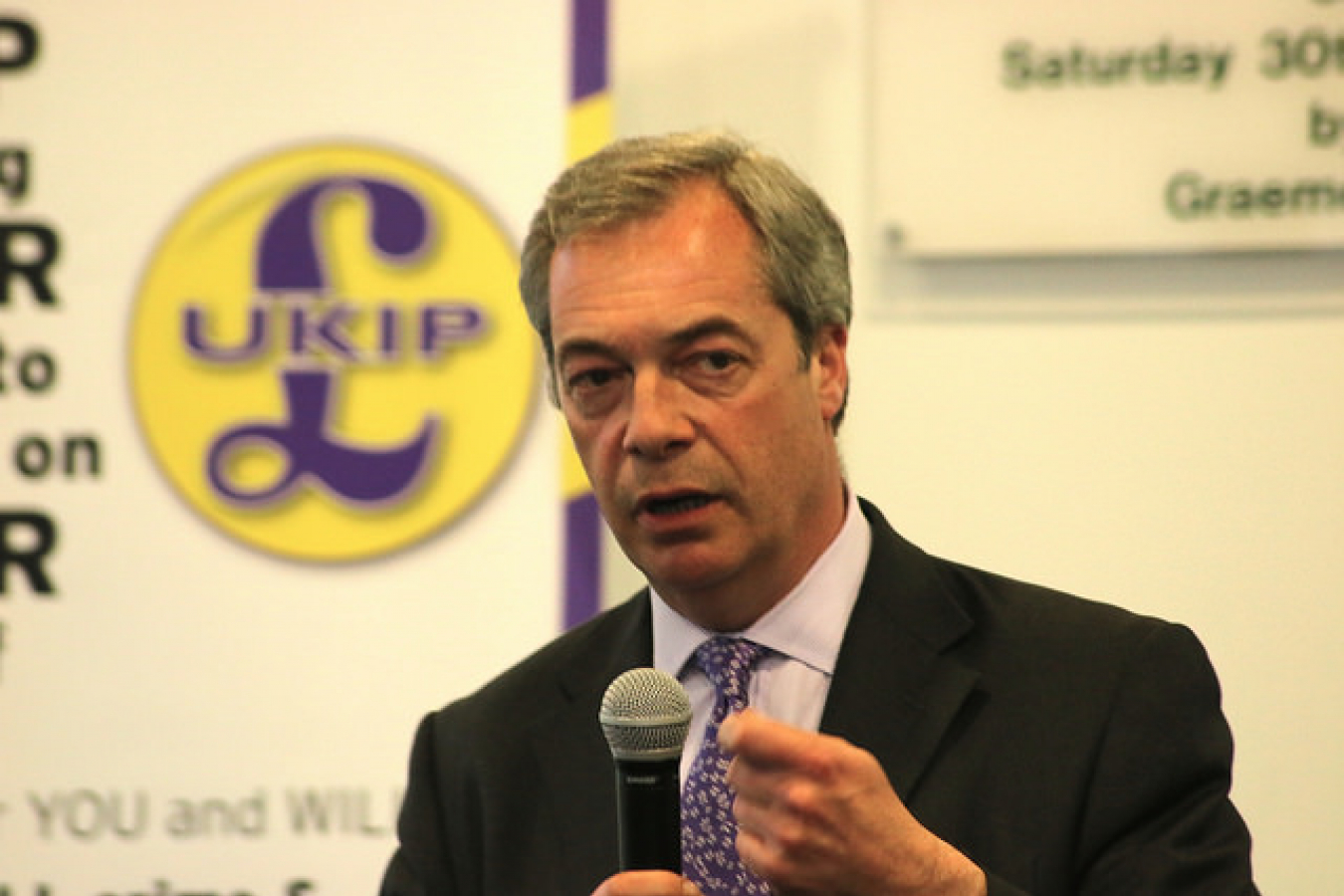 Nigel Farage former leader of pro-Brexit UKIP