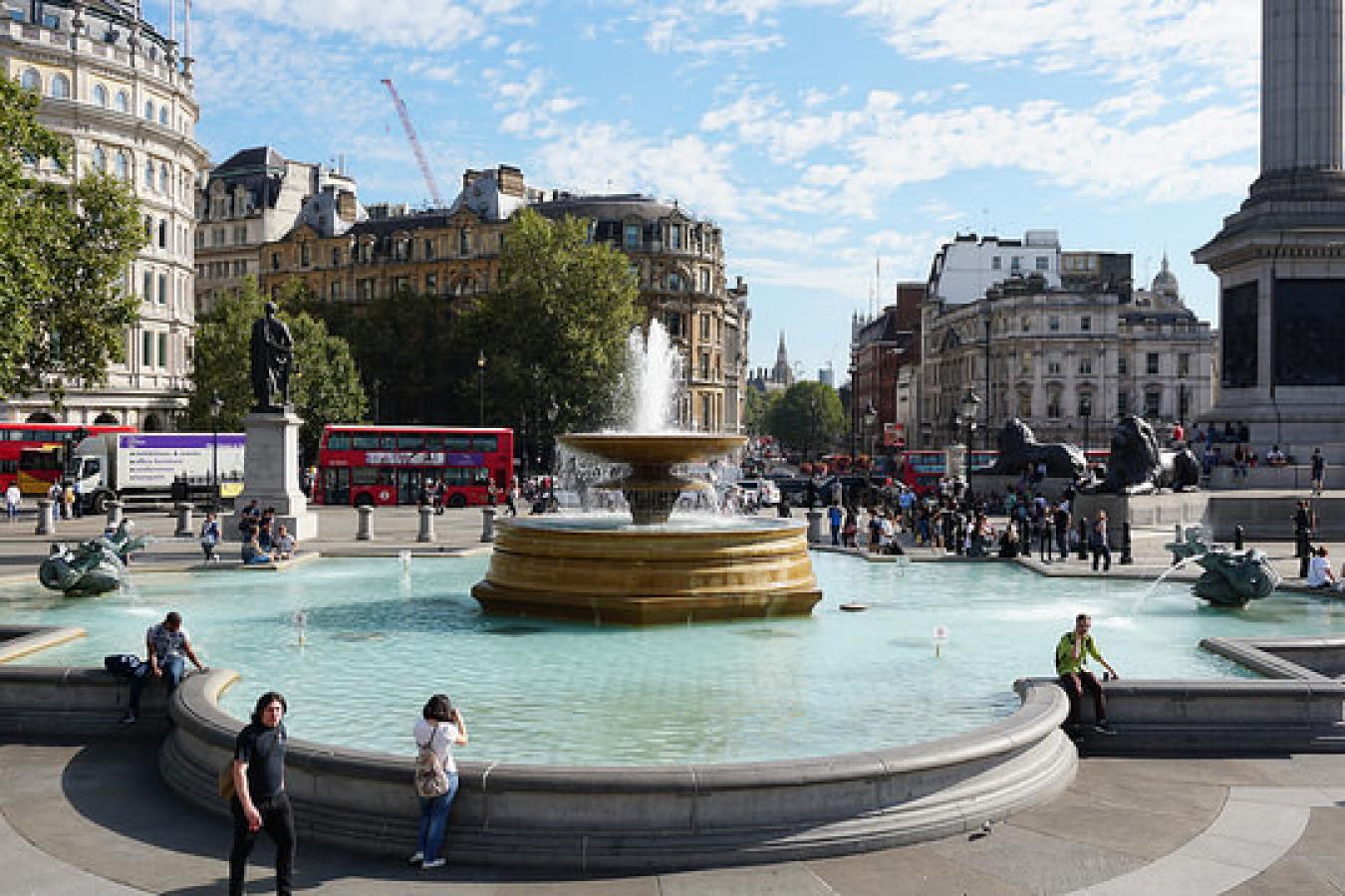 Trafalgar Square Fountain, London, UK