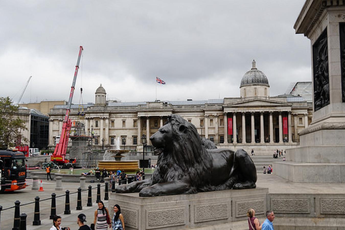 Lion at Trafalgar Square