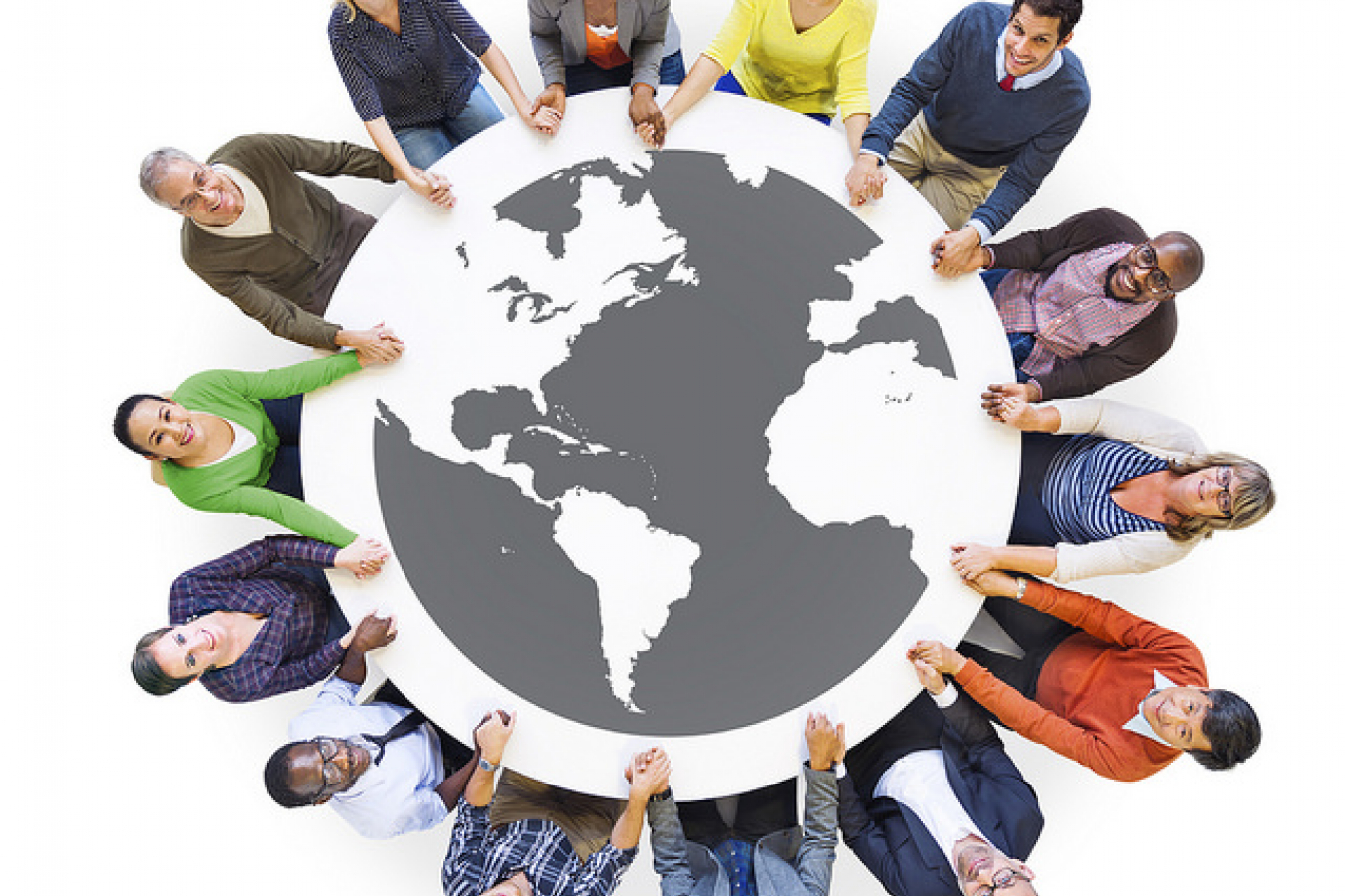 Multiethnic Diverse People in a Circle Holding Hands