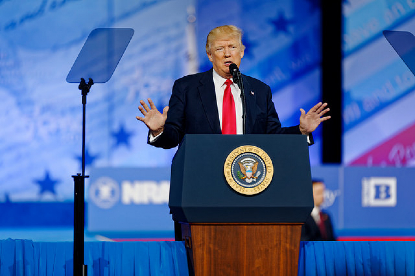 President of the United States Donald J. Trump at CPAC 2017 February 24th 2017 by Michael Vadon