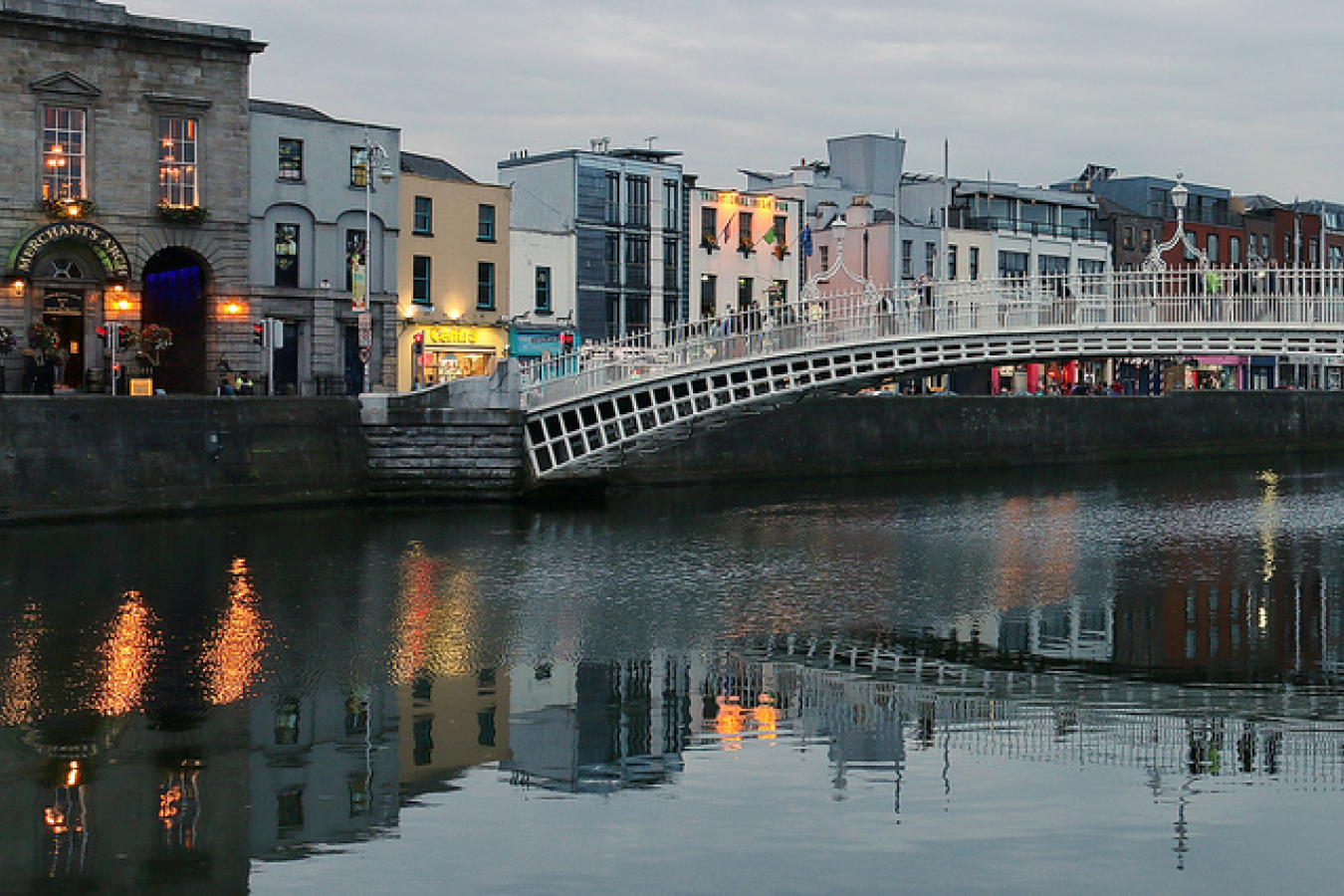 Ha'penny Bridge, Wellington Quay & River Liffey, Dublin (507187)