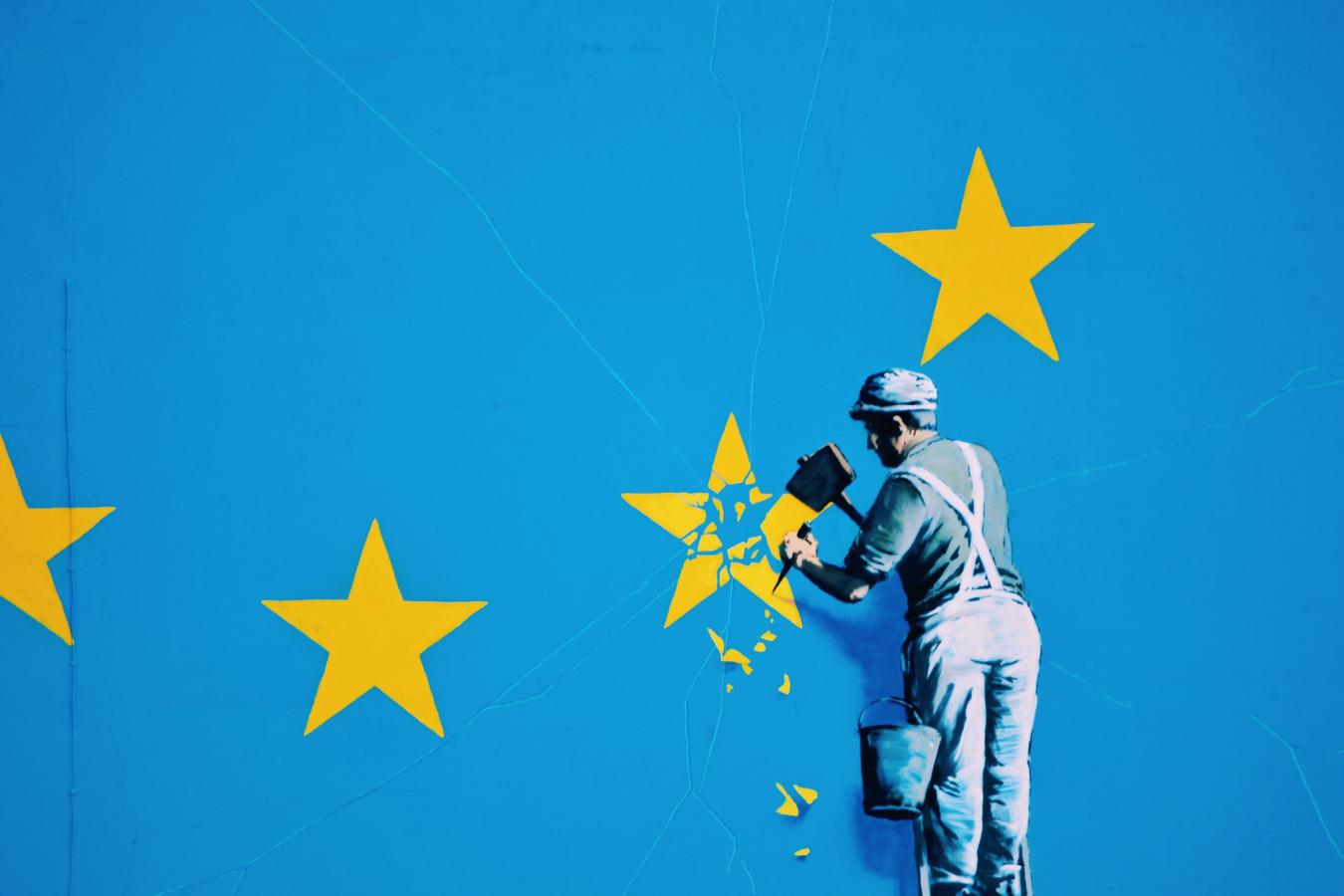 Banksy Brexit Mural Dover, Kent, UK 20 May 2017