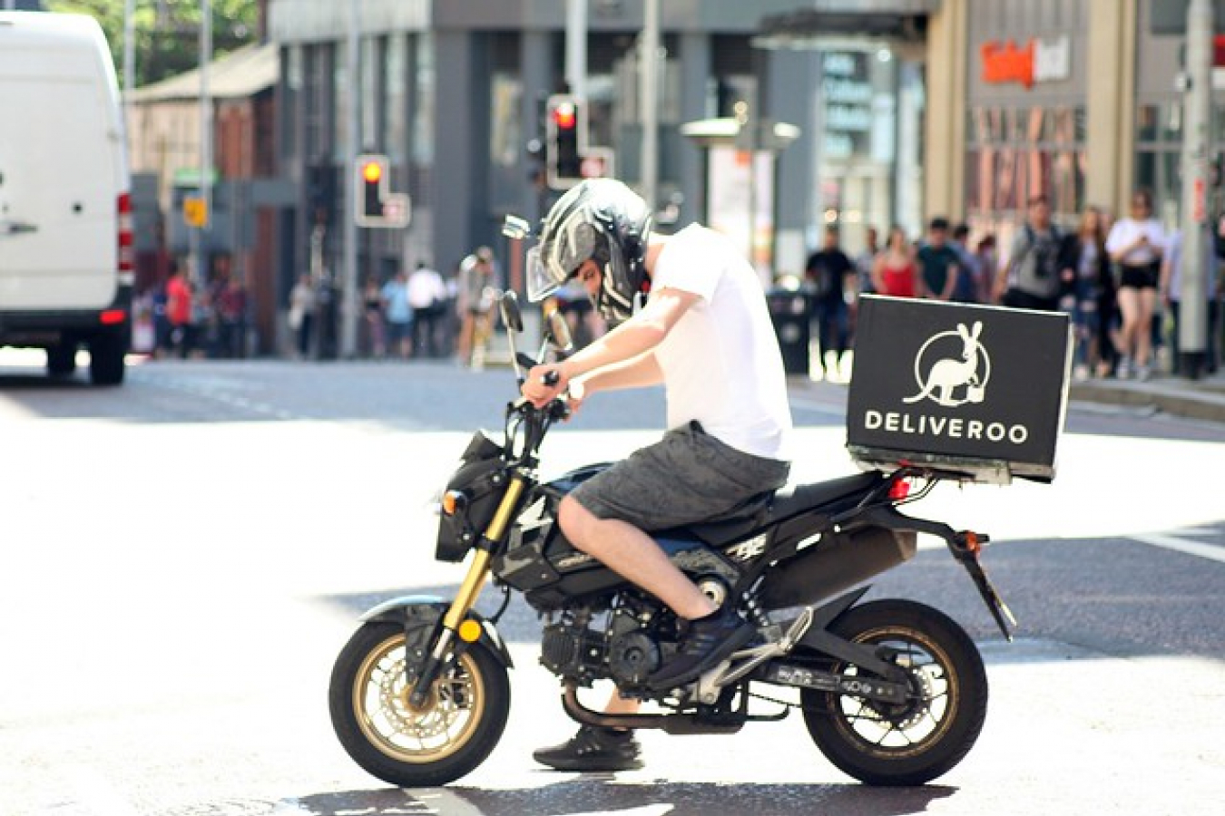 Deliveroo one of the biggest UK Tech Companies Biker - Deliveroo Delivery Drive