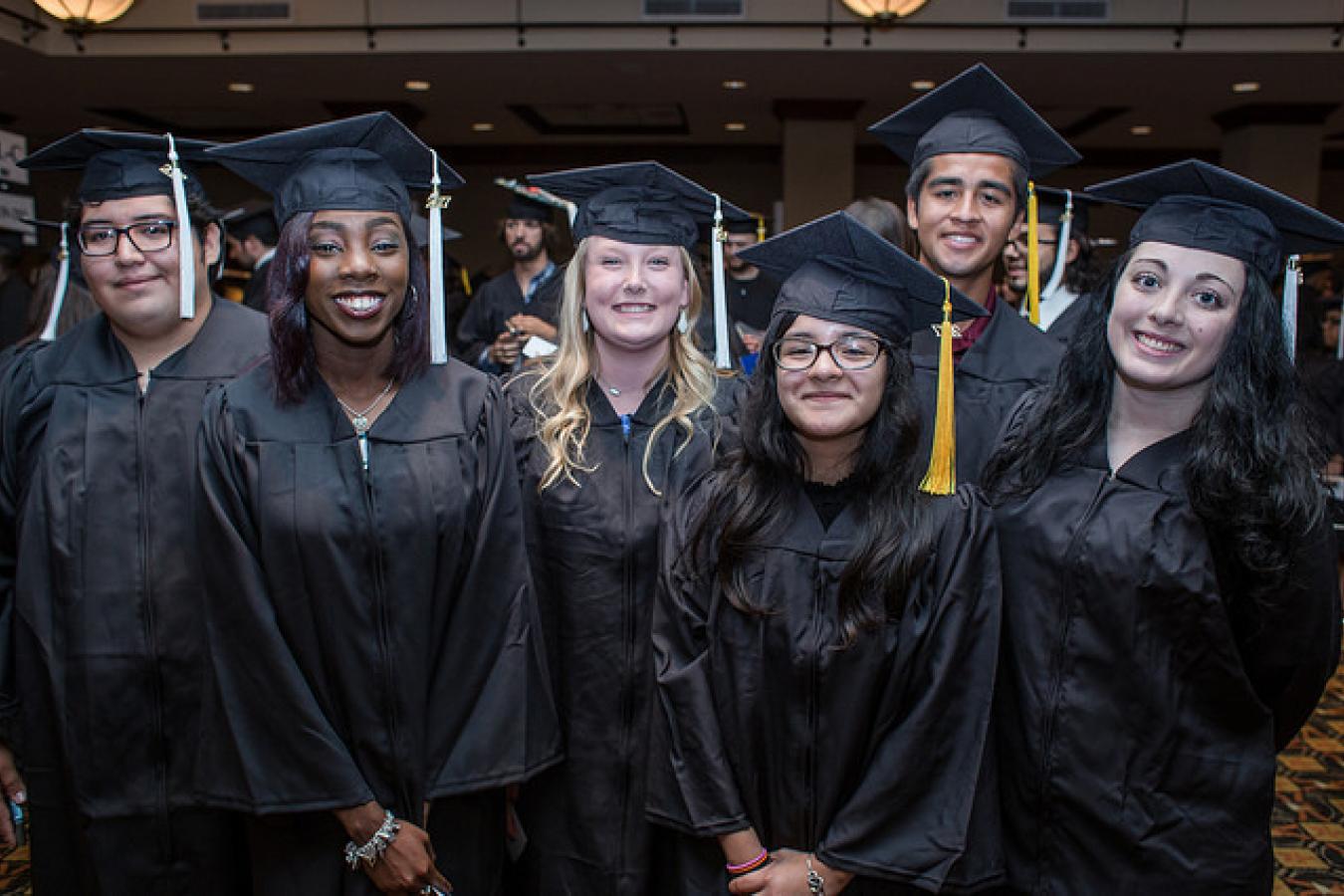 University students at graduation