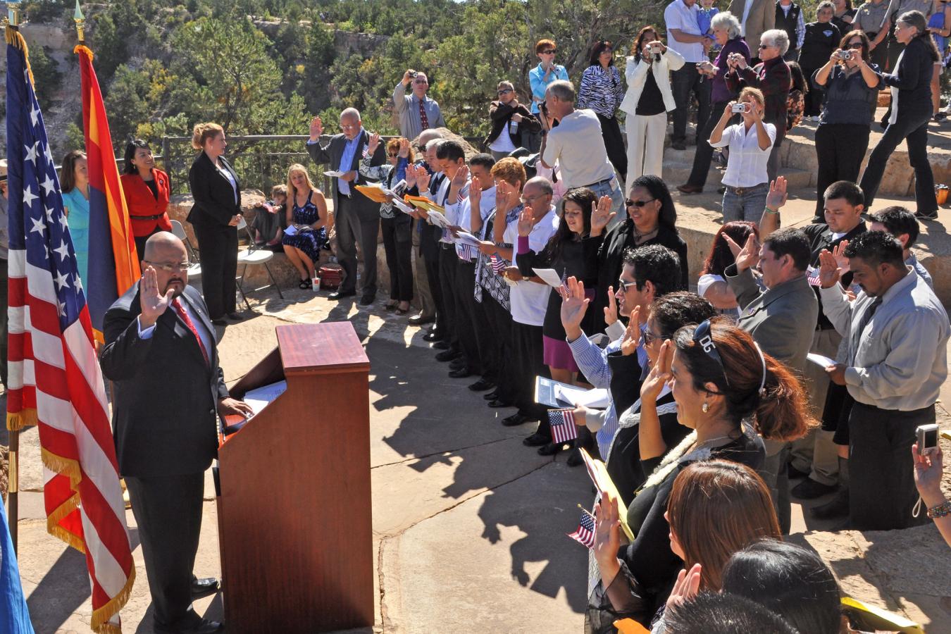 Grand Canyon naturalization ceremony 30 June 2017
