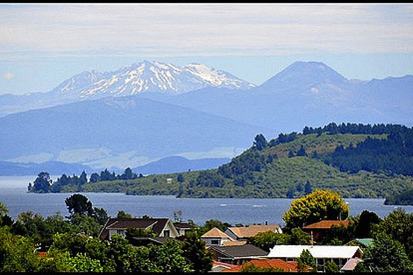 Summer snow in Taupo New Zealand