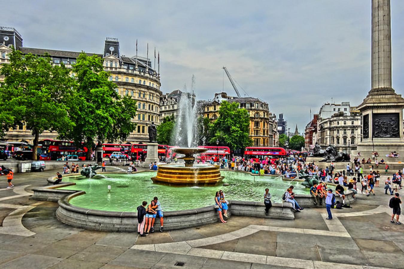 London July 20 2018 (124) Super Fountain Trafalgar Square, UK