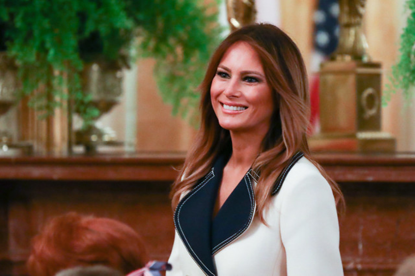 First Lady Melania Trump during Polish President visit