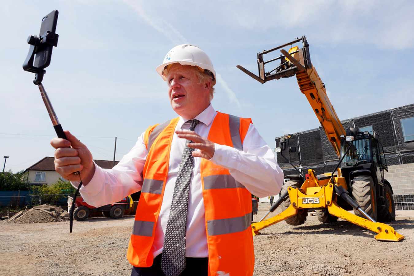 Boris Johnson Hereford County Hospital 11 August 2020