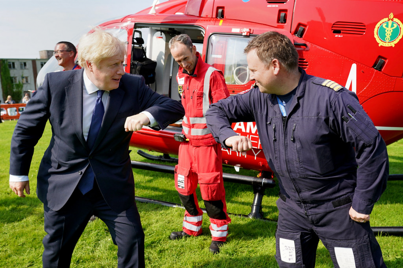 Boris Johnson Northern Ireland Ambulance Service 12 August 2020