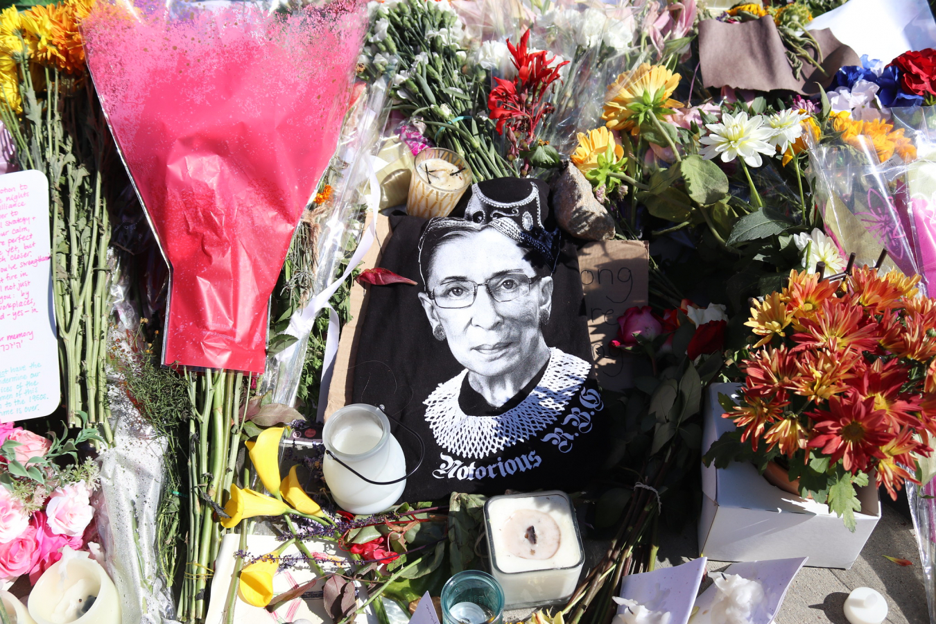 Ruth Bader Ginsburg Public Memorial, Supreme Court 21 September 2020
