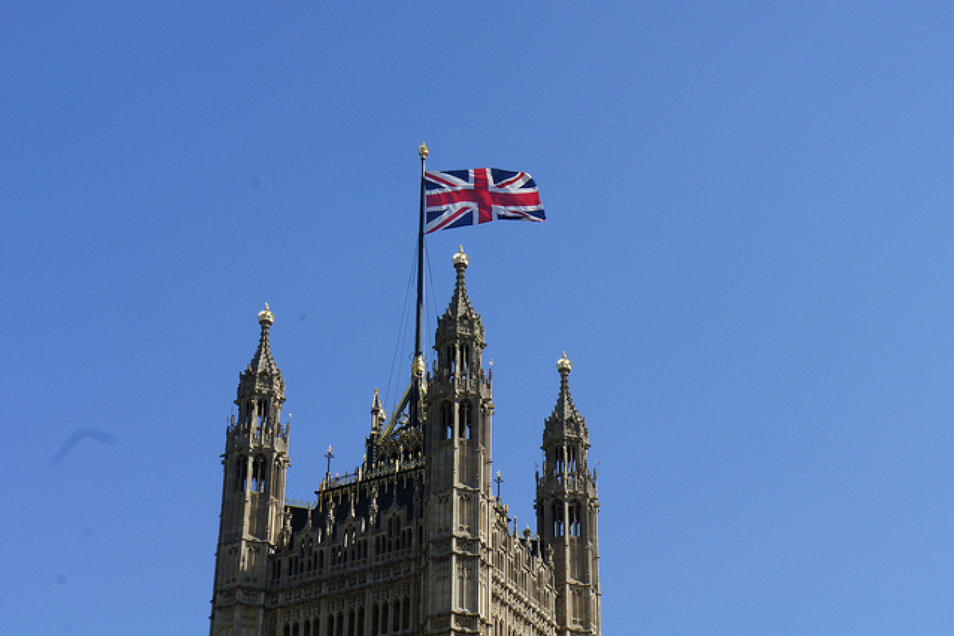 The Union Jack flag on Westminster Houses of Parliament 262