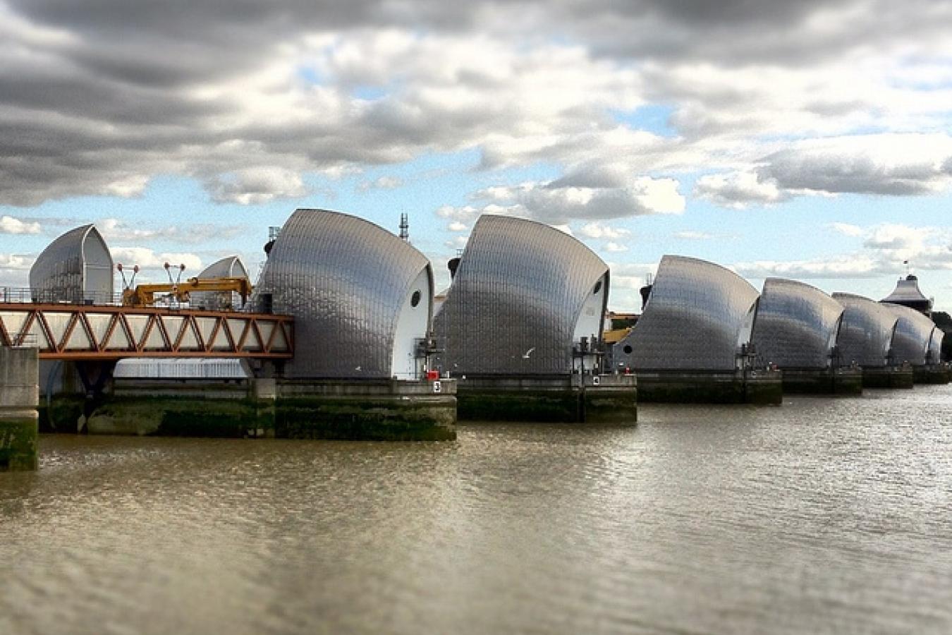 Thames Barrier, Newham, London, UK