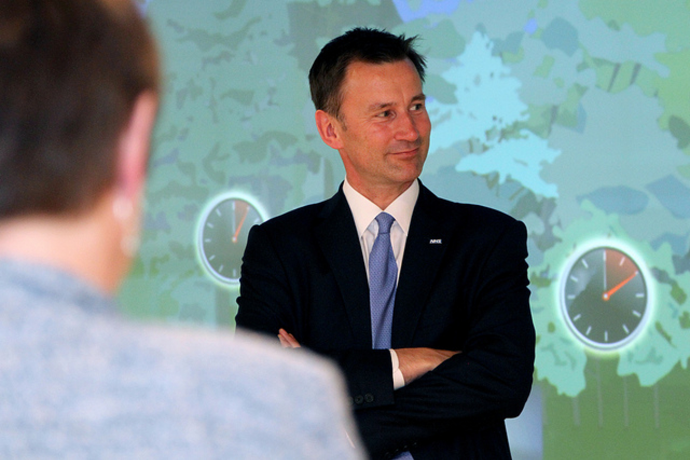 UK Secretary of State for Health Jeremy Hunt and Dr. Mark Davies visit the Center for Total Health 25424