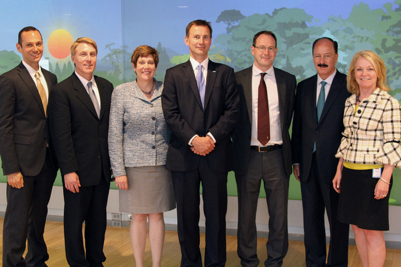 UK Secretary of State for Health Jeremy Hunt and Dr. Mark Davies visit the Center for Total Health 25422