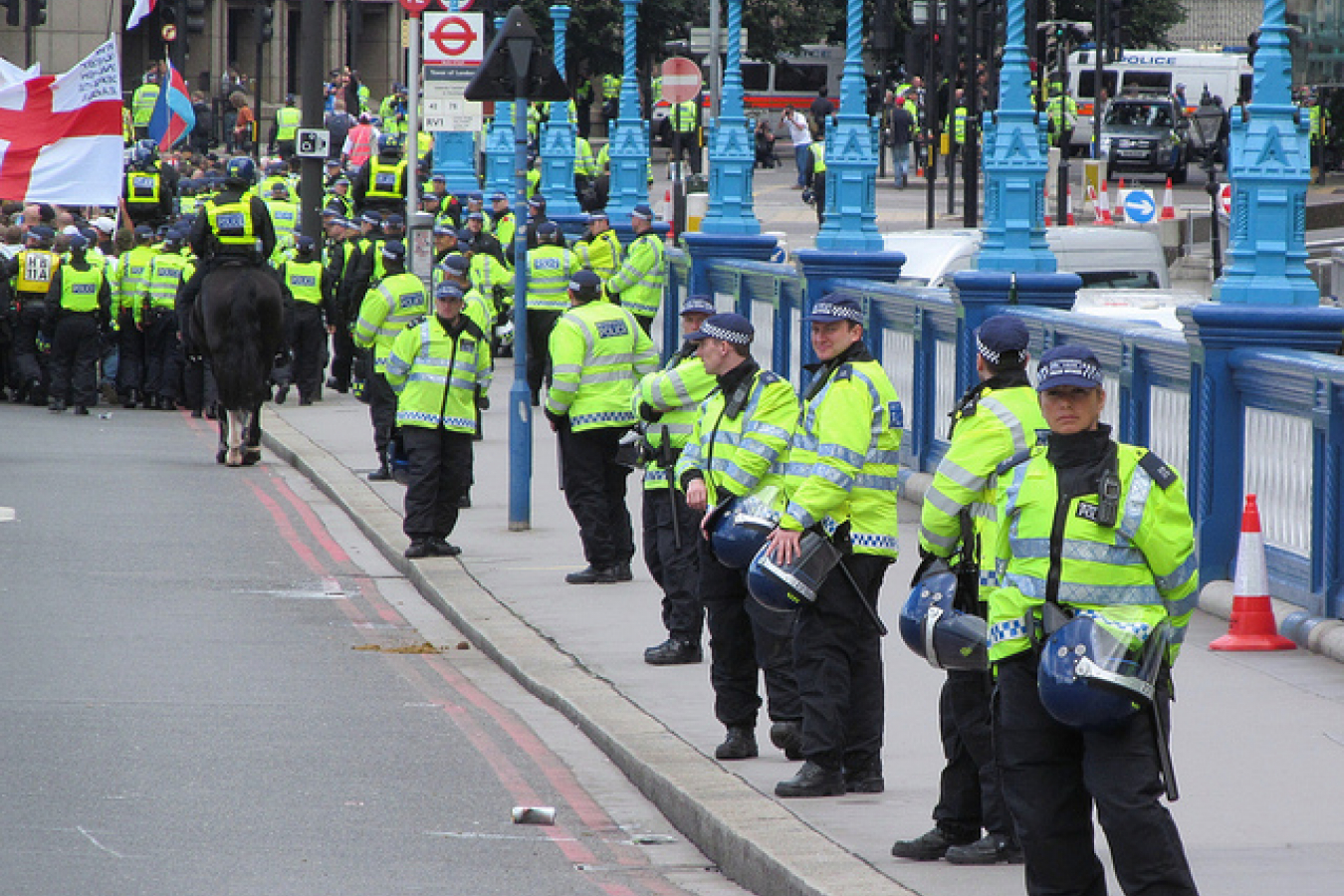 London September 7 2013 Police at English Defence League EDL March (18)