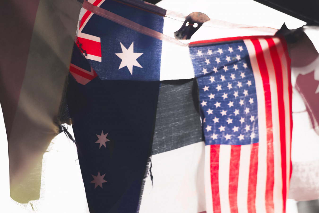 Australian & US Flags