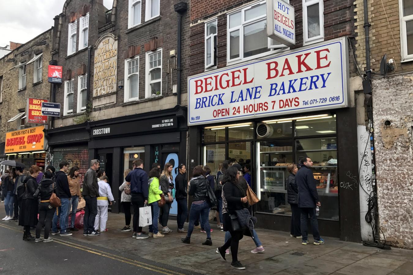 Brick Lane, London, home to Bangladeshis and before that Jews.