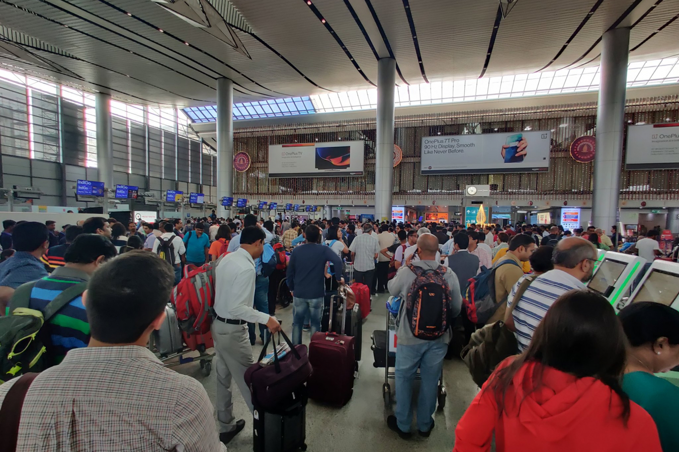 Scene at an Indian Airport
