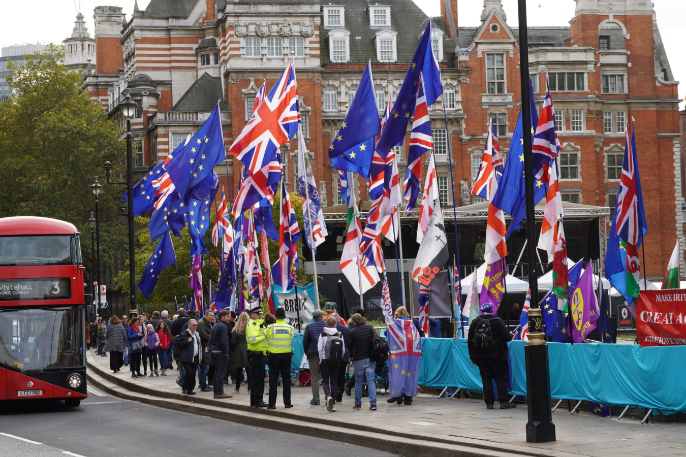 UK Parliament Square October 2019