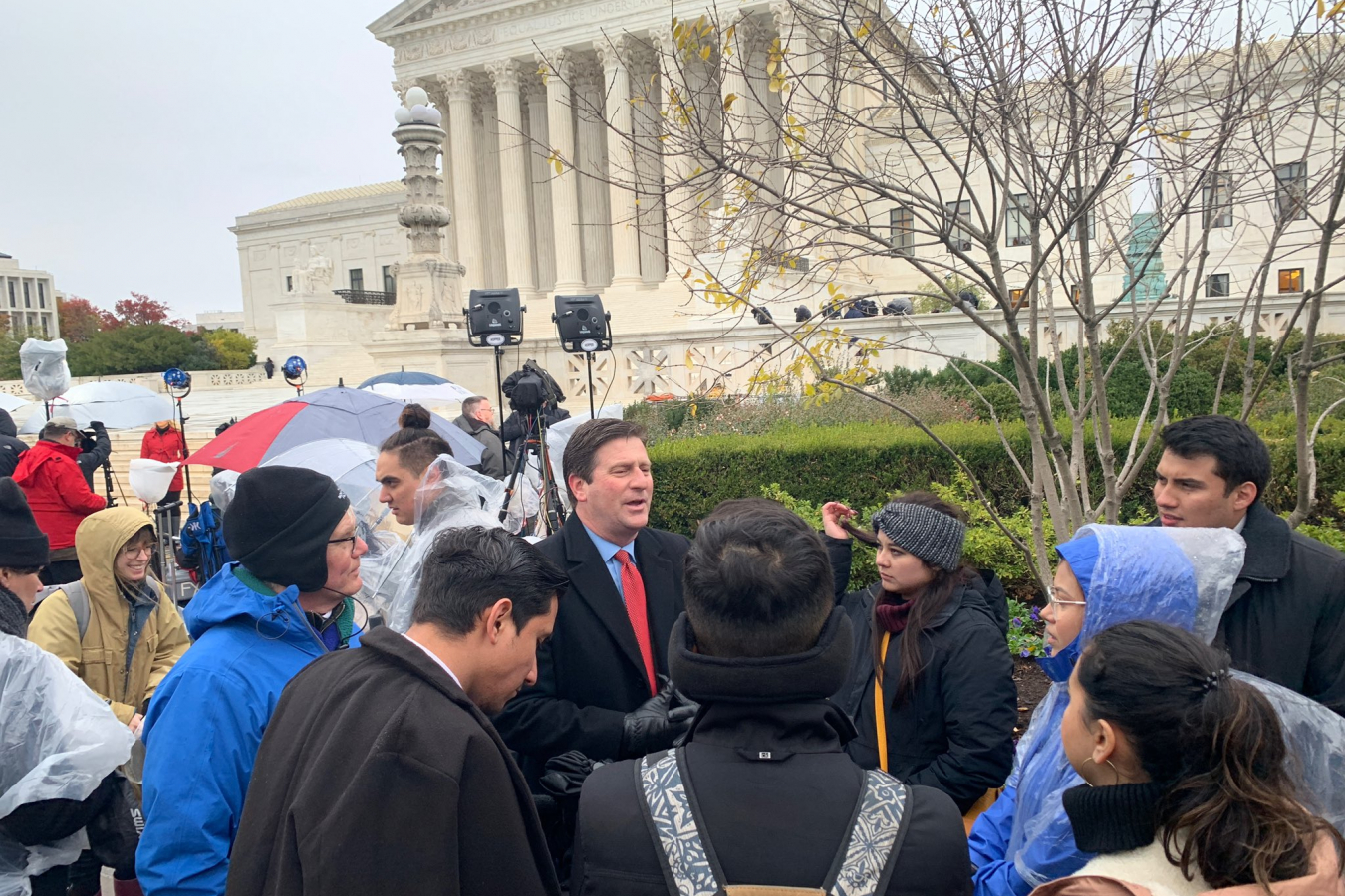Greg Stanton outside the US Supreme Court during DACA hearings 12 November 2019