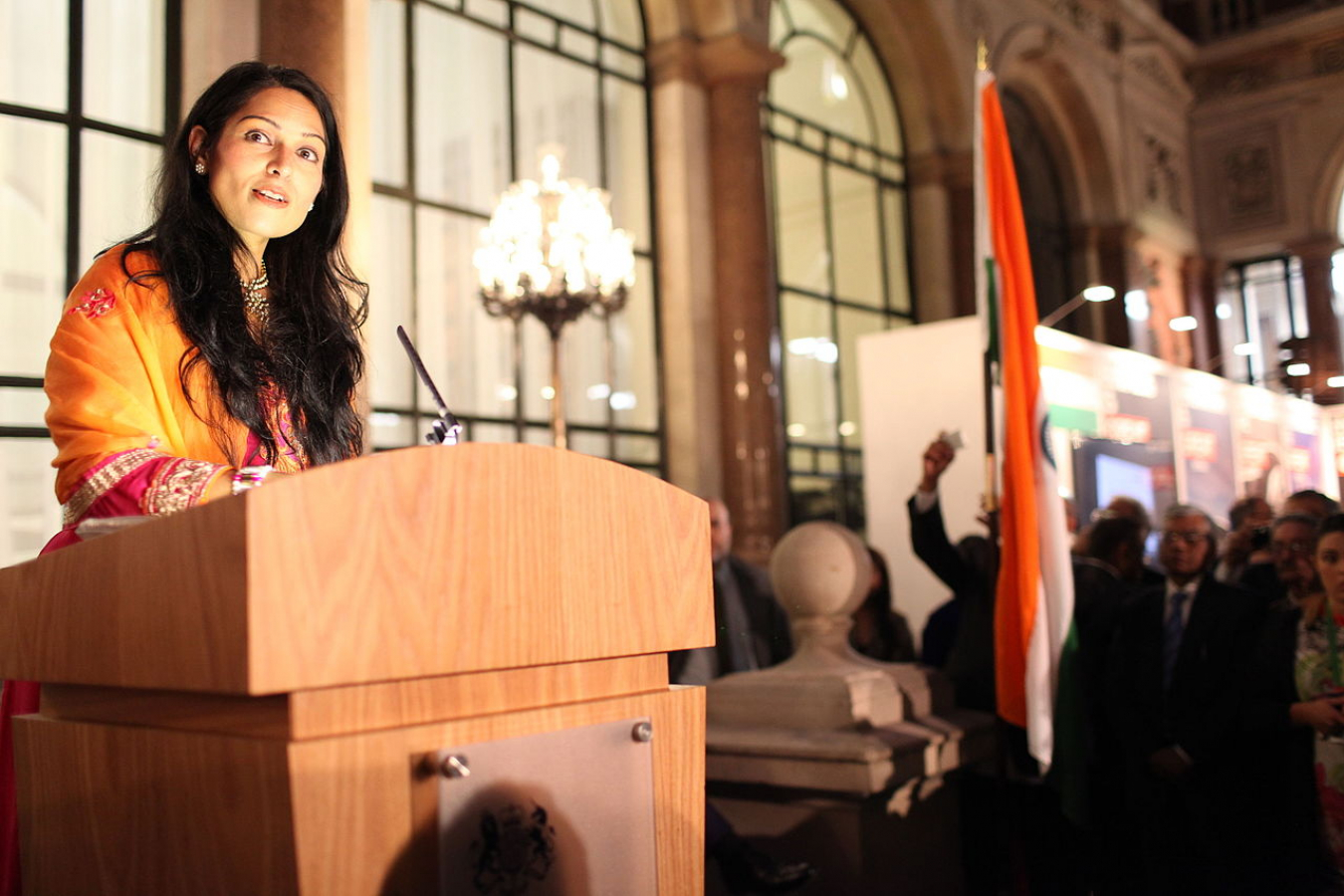 Priti Patel at an Indian Diaspora event at the Foreign & Commonwealth Office in London, 17 October 2014.