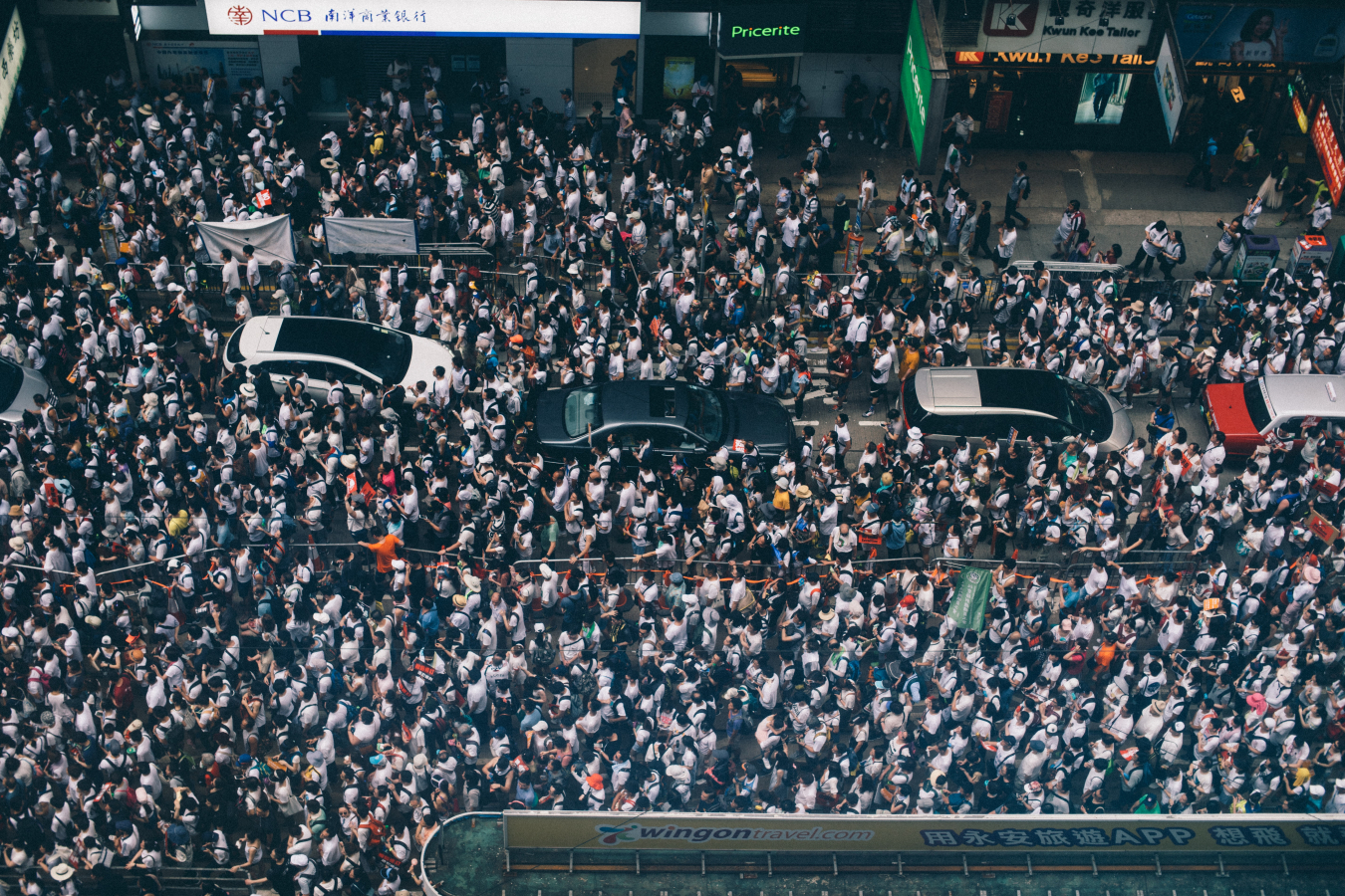 Causeway Bay, Hong Kong - More than 1 million marched in protest against controversial extradition bill, 09/06/2019