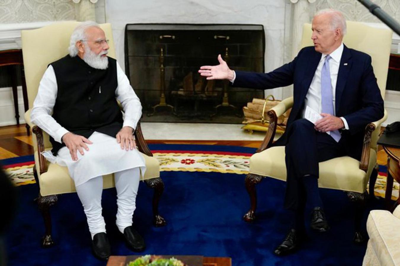 Indian Prime Minister, Narendra Modi & US President, Joe Biden.