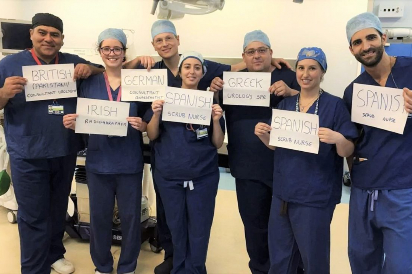 EU nationals working in the NHS in England, July 2016.
