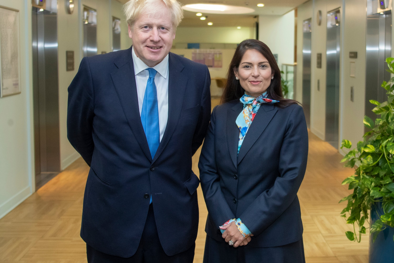 Prime Minister Boris Johnson and Home Secretary Priti Patel
