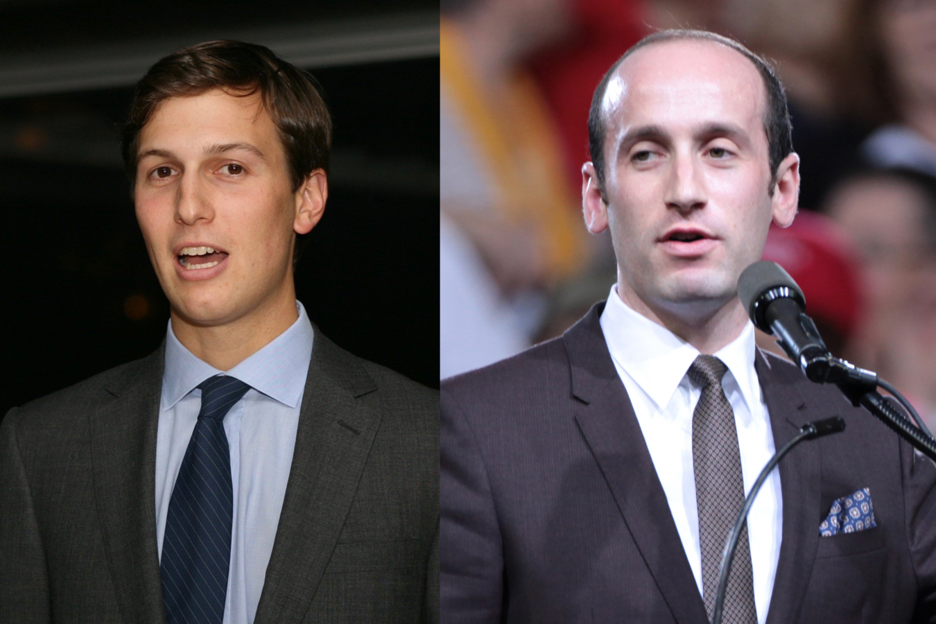 Trump Senior Advisors: Jared Kushner and Stephen Miller, both with Jewish immigrant ancestry.