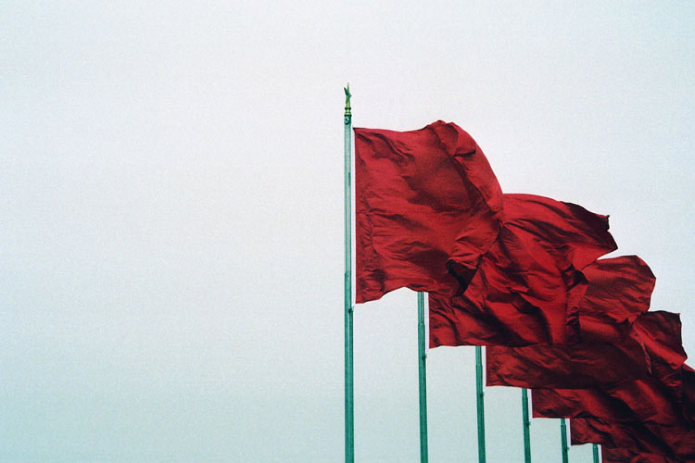 Tianamen Square China, Flags