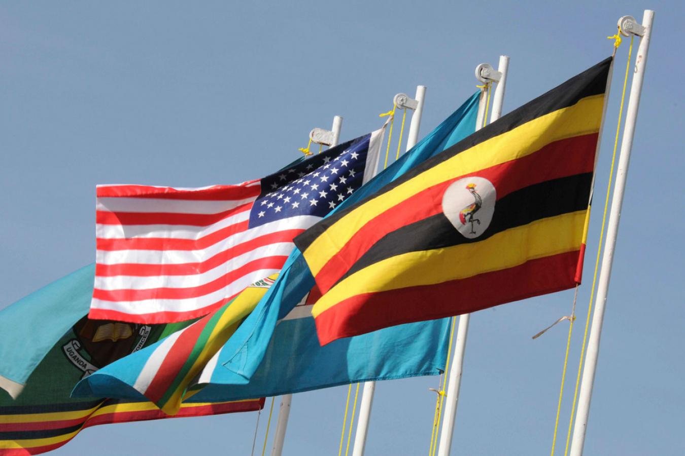 Uganda & US Flags