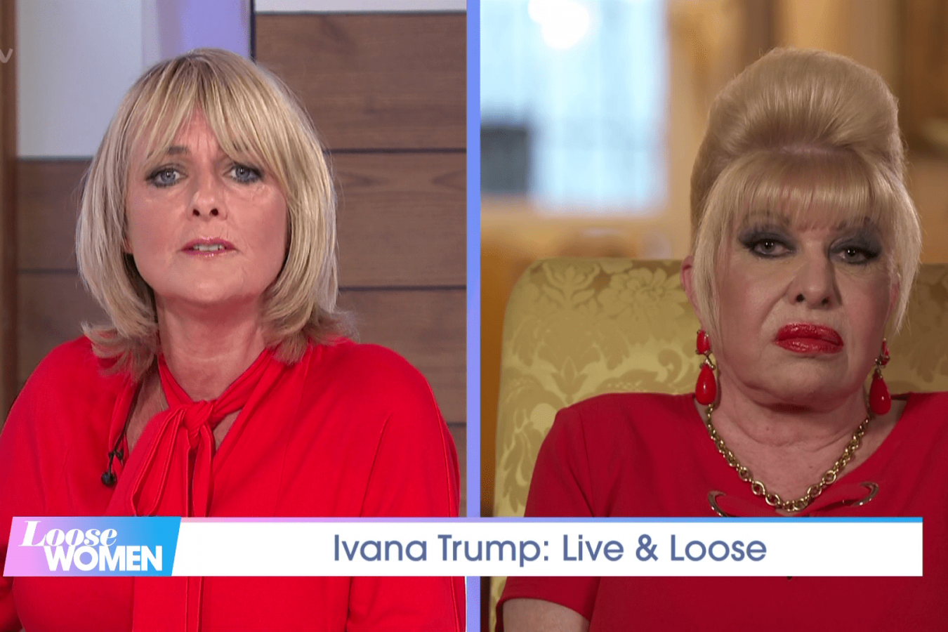 Ivana Trump on ITV's Loose Women 14 September 2020